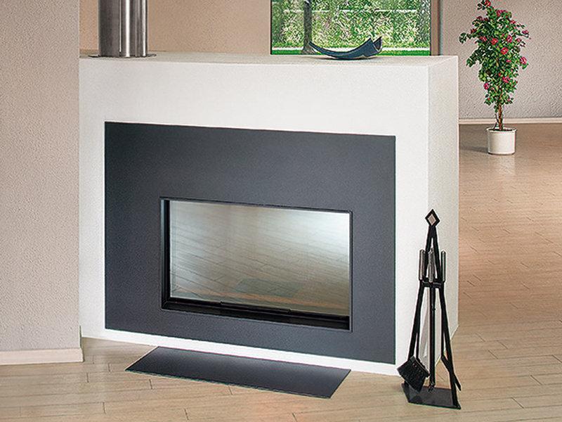 vitre de chemine chemine bois avec un foyer vitres. Black Bedroom Furniture Sets. Home Design Ideas